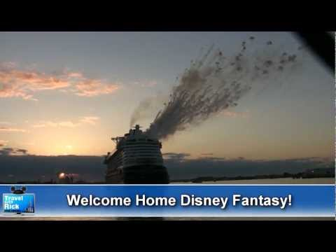 The Disney Fantasy Arrives in Port Canaveral